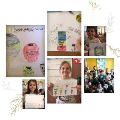 Първолаци с идейни проекти по случай Деня на Земята 1